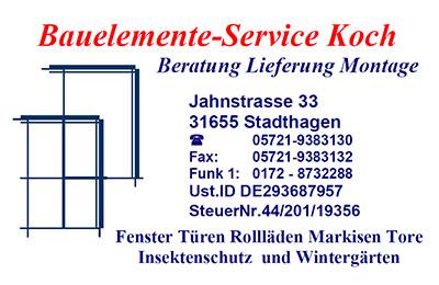 Sponsor Bauelemente Service Koch